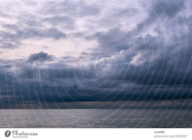 Clouds at the Baltic Sea coast near Meschendorf Ocean Mecklenburg-Western Pomerania Beach Baltic coast Sky Blue Weather Climate Landscape Nature Idyll vacation