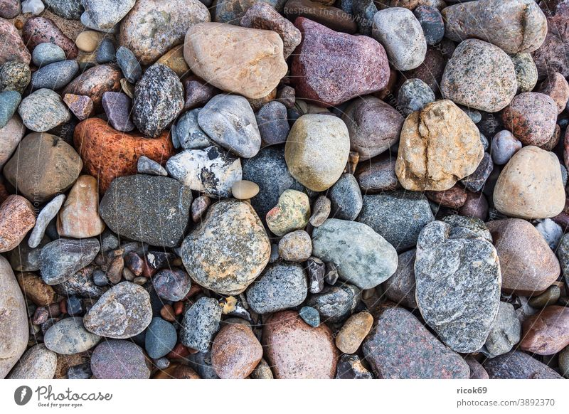 Stones on the Baltic Sea coast near Meschendorf stones Beach Mecklenburg-Western Pomerania Baltic coast Landscape Nature Idyll vacation voyage destination