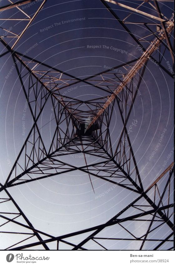high current Electricity Spider's web Steel Light Electrical equipment Technology Prisoner Sky Vantage point Net Maze Nature and technology Ben Hopelessness