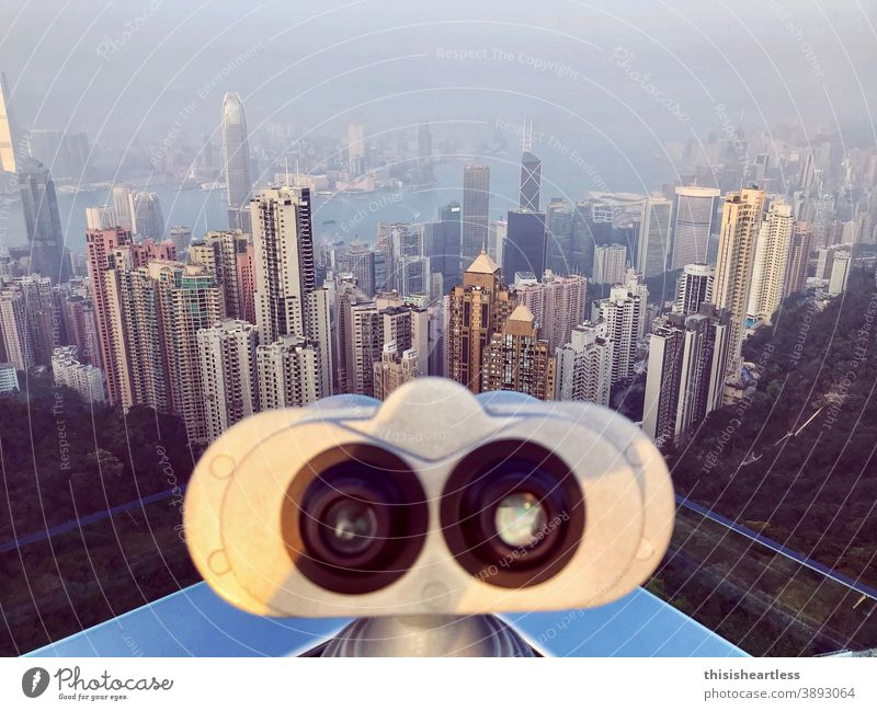 threw Wall-E eyes Skyline skyscraper skyscaper Hongkong Hong Kong Iceland outlook vantage point Lookout tower viewing platform Overview Review High-rise