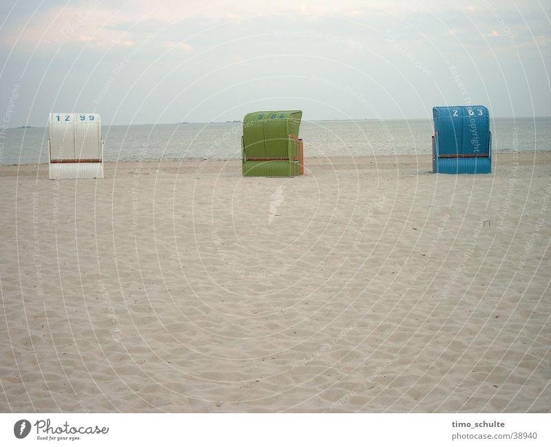beach chairs Beach Ocean Beach chair Vacation & Travel Europe North Sea Sand