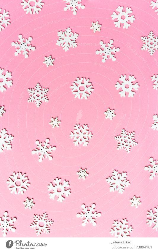 Winter background with snowflakes winter festive christmas decorative white frame celebration empty illustration seasonal space copy holidays wooden decoration