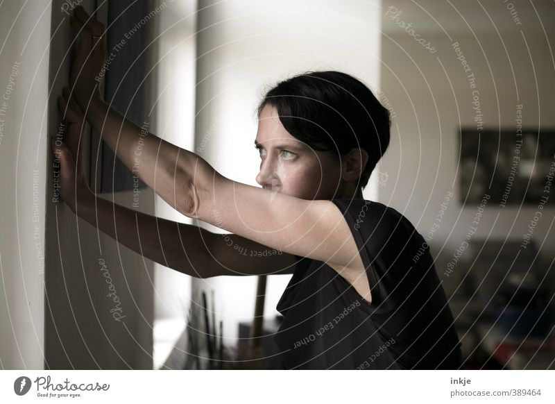 how we keep feelings at a distance Lifestyle Living or residing Flat (apartment) Room Living room Woman Adults Face Arm Upper body Womens upper body 1
