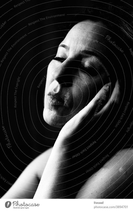 mature woman VI, spain portrait beautiful attractive gesturing finger silence style allure selfie one people romantic romantic attitude hand brown maturity