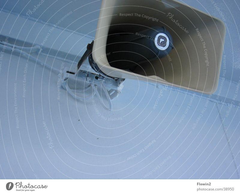 White Blue Cold Cool (slang) Technology Loudspeaker Megaphone Volume