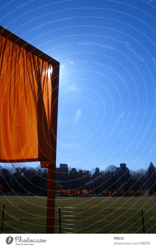 theGates New York City Saffron Meadow Exhibition Sky Orange christo