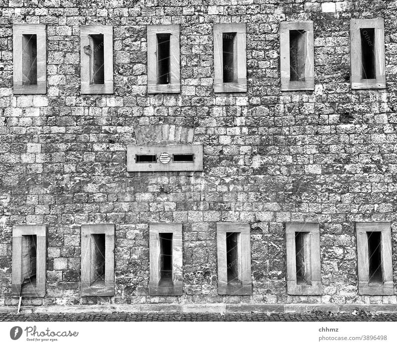 fortress Fortress Historic Architecture Wall (building) Exterior shot Building ramparts Mainz Castle Sandstone Manmade structures Wall (barrier) loophole