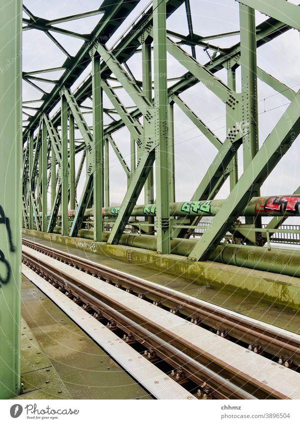 railway bridge Steel Railroad Bridge rhine bridge Railway bridge Railroad tracks Rail transport Transport Logistics Train travel Means of transport