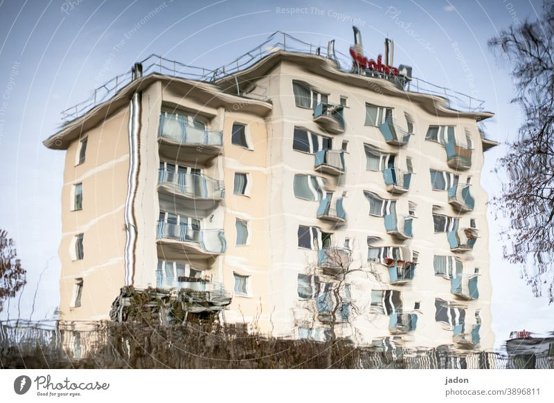 shaky candidate. House (Residential Structure) Architecture Building Window Exterior shot Manmade structures Deserted Town Living or residing High-rise Balcony