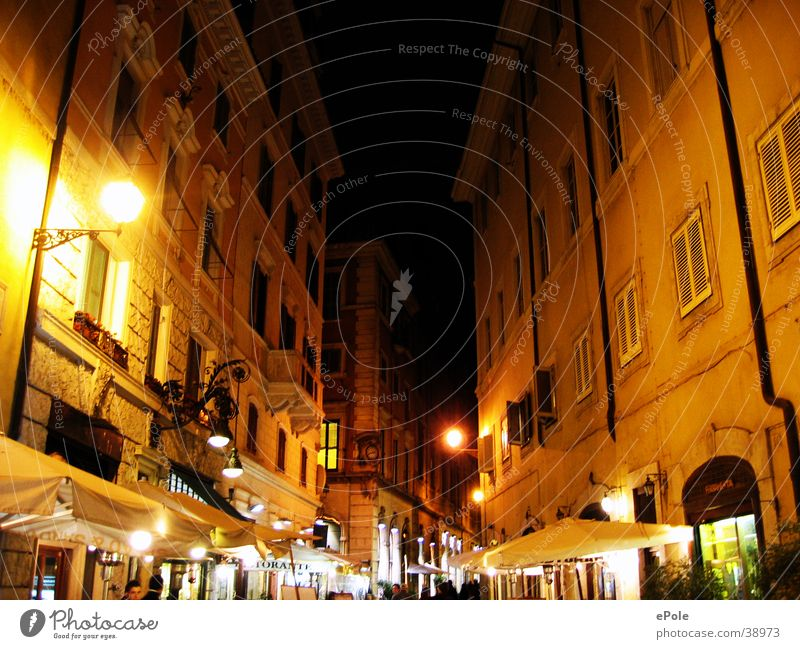 Street Lighting Architecture Romance Rome Italy