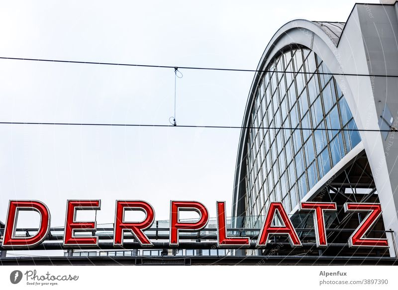 A place for Alexander Alexanderplatz Berlin Architecture Places SBahn Train station Capital city Downtown Berlin Town Tourism Colour photo Deserted Germany
