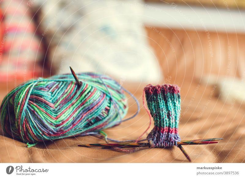 Knit socks Knitting pattern Wool Ball of wool variegated Home improvement Handyman Handcrafts do needlework