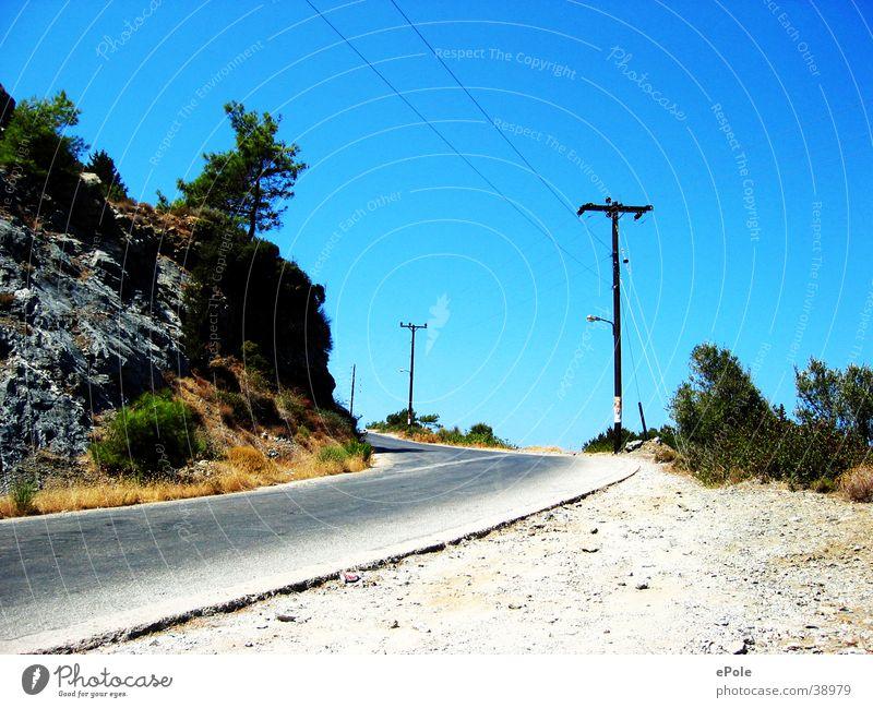 uphill Upward Mountain Lanes & trails Street Blue sky