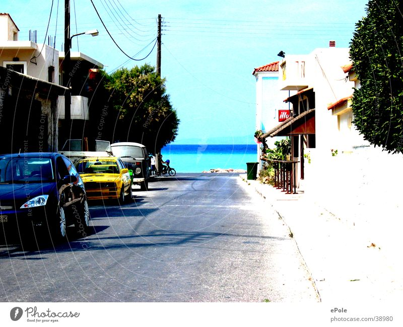 Road to the sea Ocean Greece Samos Lanes & trails Street Island