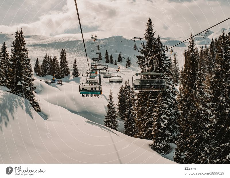 Sessellift im Südtiroler Skigebiet Ratschings erholung südtirol italien natur skifahren snowboarden wintersport landschaft winterlandschaft kälte schnee