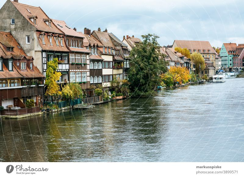 Bamberg Little Venice Fishermen's Settlement Fishermen's Village World heritage UNESCO World Heritage Site River River bank apartment buildings fishing