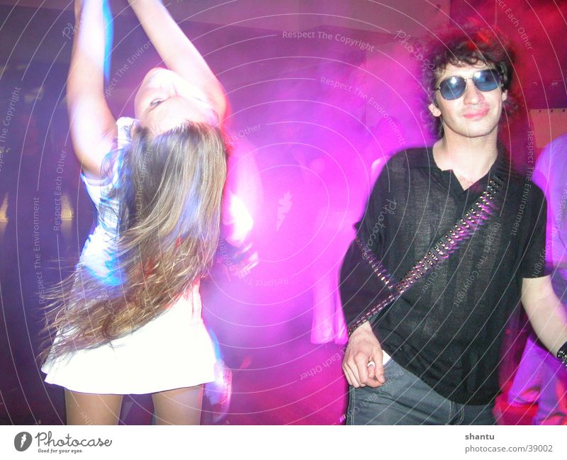 party girl Party Club Disco Sunglasses Group Dance Hair and hairstyles Sunglases at Night Party mood Party goer