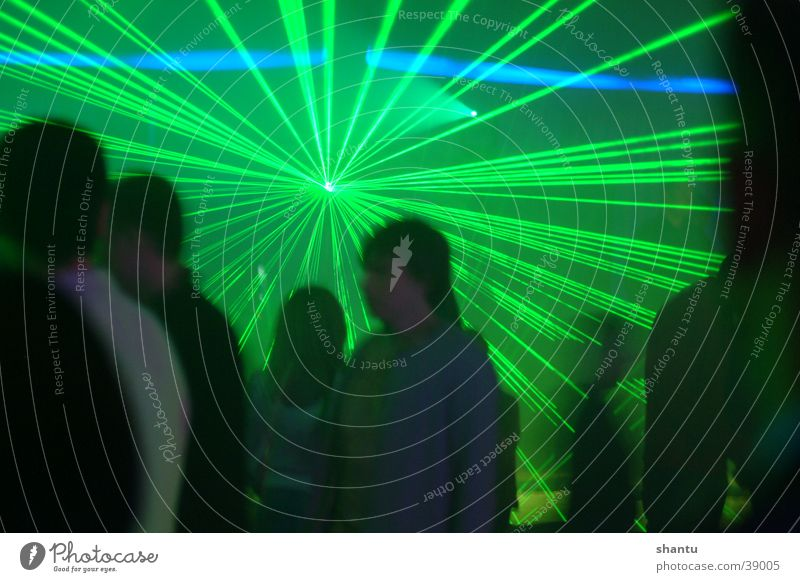 Music Group Dance Club Laser Techno