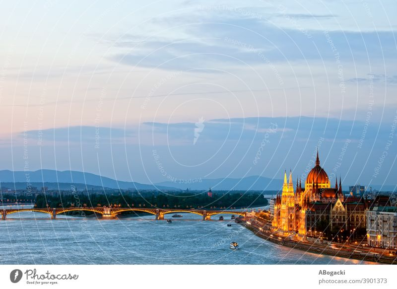 Budapest City Evening Cityscape in Hungary budapest parliament building hungary night danube river city cityscape landmark monument dusk evening twilight magyar