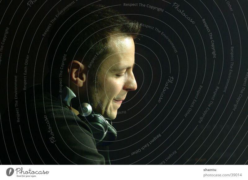 Man Music Dance Club Headphones Disc jockey