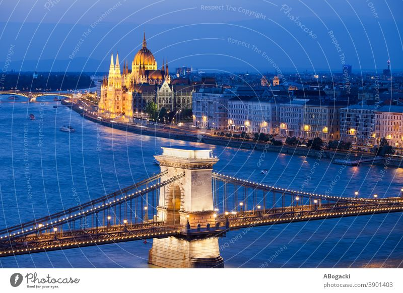 Budapest City Night Cityscape in Hungary budapest parliament building hungary night nightscape danube river city cityscape chain bridge landmark monument dusk