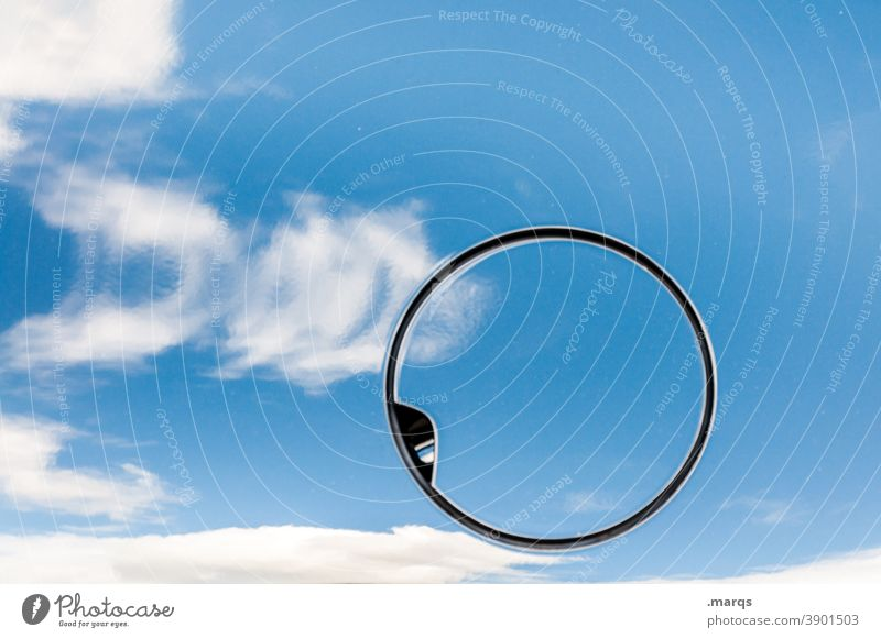 Gas cap Refuel Raw materials and fuels Gasoline Diesel Resource Environment Environmental pollution Reflection Blue Clouds Close-up Irritation Circle Creativity