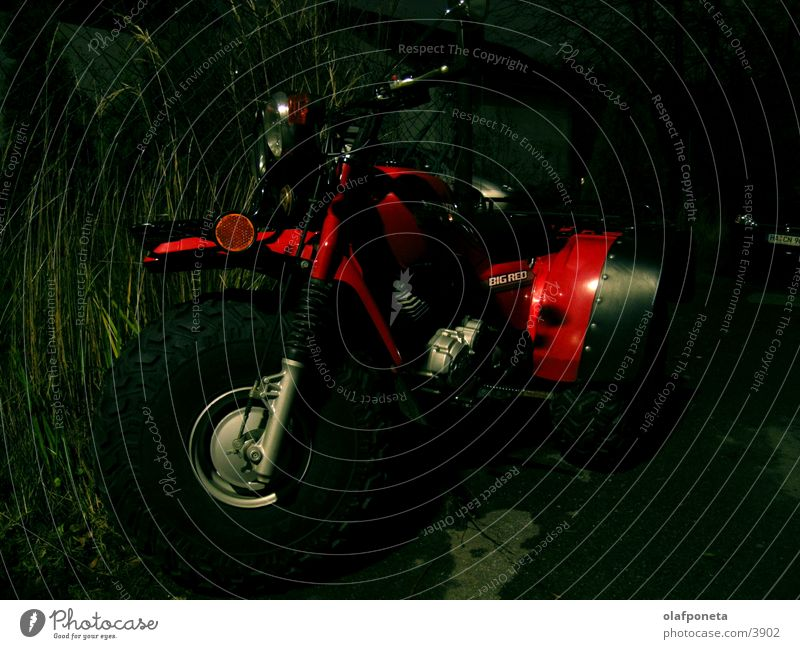 Red Dark Transport Speed Dangerous Motorcycle Tricycle