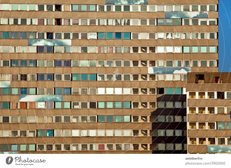 Multi-family house alex Architecture Berlin Office city Germany Worm's-eye view Capital city House (Residential Structure) Sky High-rise downtown Middle Modern