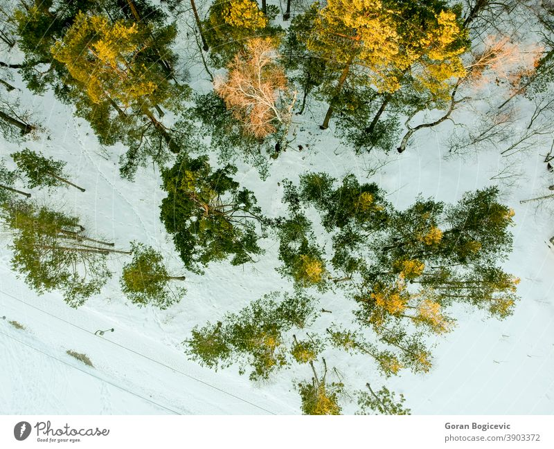 Aerial view at Divcibare, Serbia above aerial cold countryside divcibare environment europe forest frost frozen ground highland hill hillside landscape light