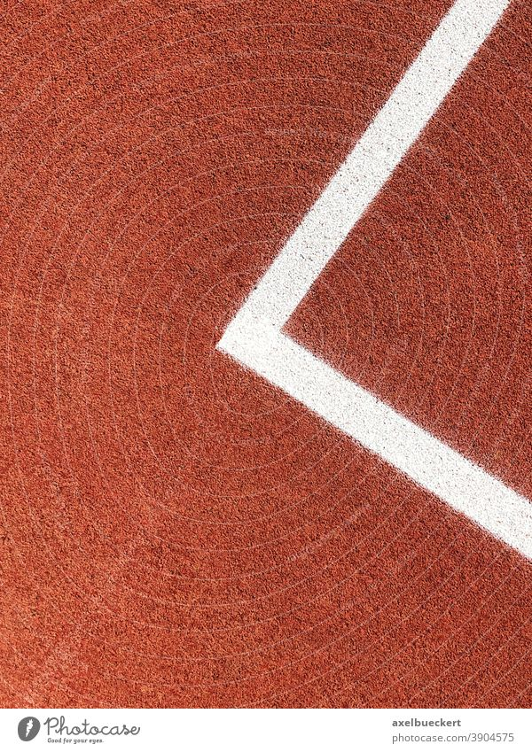 Corner of a boundary of a basketball court Playing field parameters Basketball Basketball arena Red White Line Abstract Sports Deserted Sporting grounds