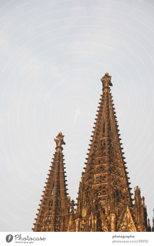 The Cologne Cathedral (a bit different) Exceptional House of worship Point Tower Sky Detail