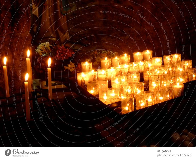 Sacrificial candles... sacrificial light Sacrificial Lights votive candle Votive light Church Prayer Hope please Religion and faith Belief Christianity pray God