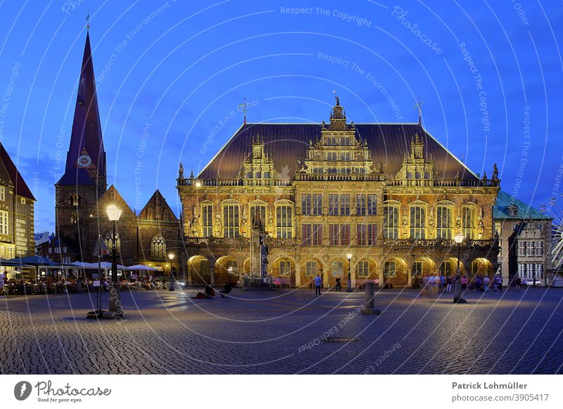 Bremen City Hall Square Bremen Town Hall bremer town hall square Manmade structures Historic historic building downtown travel Sightseeing vacation Landmark