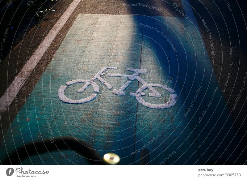 bicycle lane sign on the street Bicycle Lane Travel Cycle Cycling People Traveling Safety Traffic Road Road Marking Pattern Black Color Street Image