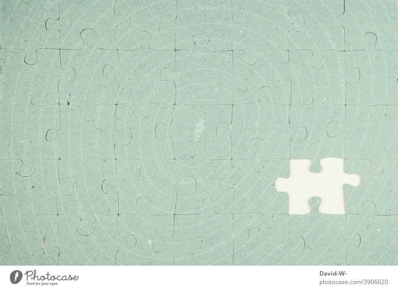 Puzzle - unfinished incomplete straight Lack Part Defective Incomplete unsatisfactory unsuccessful