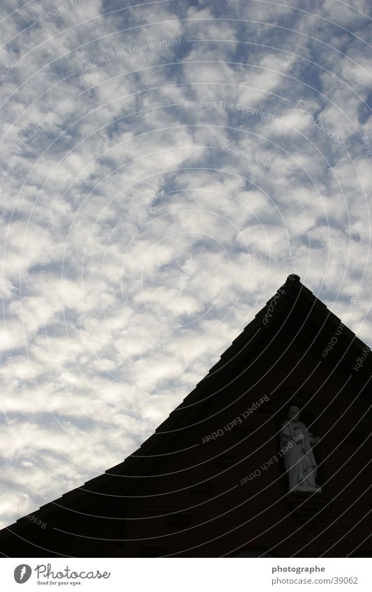 Heaven and earth Deities Statue Clouds House of worship God Sky Earth Contrast Point