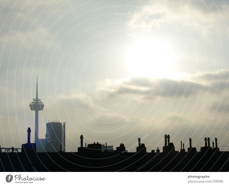 City Dark Bright Architecture Cologne Skyline Television tower Afternoon Colonius - television tower