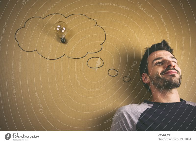 have an idea Idea incursion Electric bulb solution Success Creativity Think Education Answer thought bubble Man