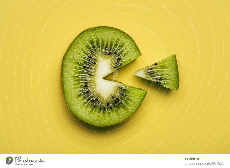 kiwi fruit slice isolated nutritious textured kiwi slice pulp vegan section nature nutrition cross section vitamin c portion cut out dessert vegetarian diet