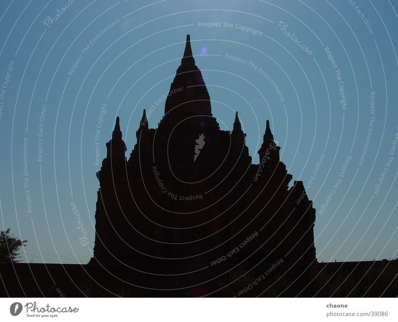pagoda #2 Buddhism Myanmar Bagan Stupa Pagoda Asia Silhouette House of worship Shadow