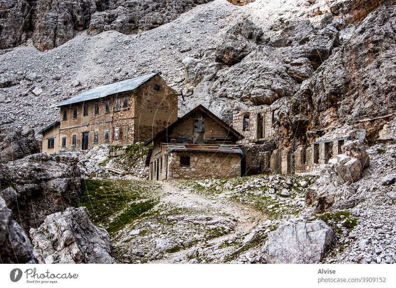 abandonment in the dolomites two landscape alpine alps italy mountain outdoor travel peak hiking nature dolomiti beautiful refuge tourism trekking view