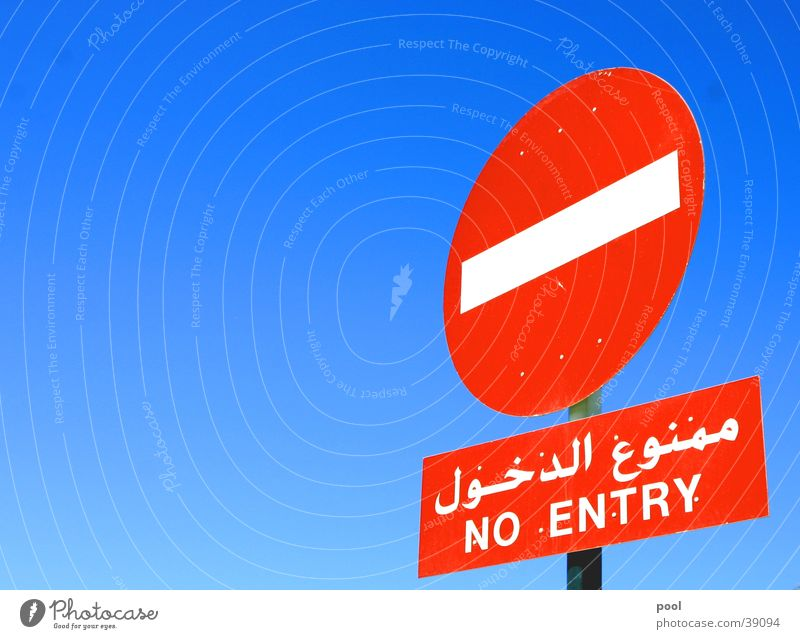 Sky White Blue Red Street Colour Lanes & trails Signs and labeling Transport Round End Stop Truck Highway Signage Bans