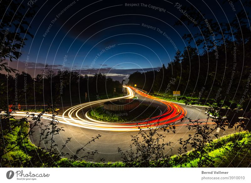 Life is a roundabout crying traffic light puller in a circle Visual spectacle Long exposure