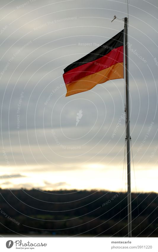 Contemporary History | Unity and Justice and Freedom national pride symbol hoist Nationality Sign Patriotism Germany Flagpole German Flag German flag Wind