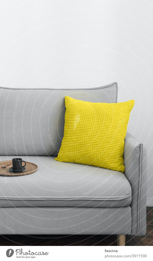 The color of the year 2021 in scandy interior color 2021 color of year illuminating yellow ultimate gray scandinavian room background vertical design trend grey