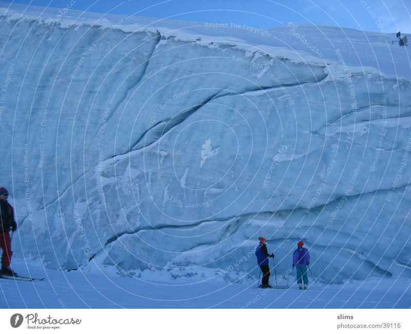 blue ice Mountain Blue Snow 2 people Ice small people