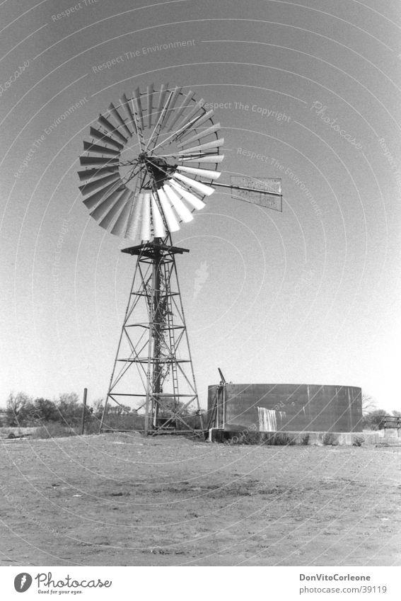 Australia 96-II Outback Well Water Pump Wind energy plant Black & white photo