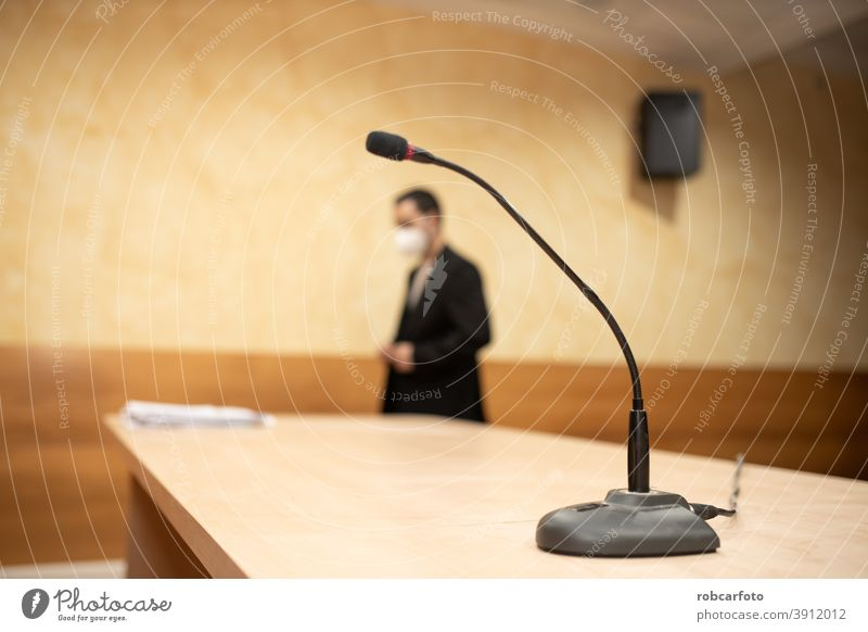 man giving conference or press conference explaining speaker speech business audience businessman event talk public professional media seminar corporate