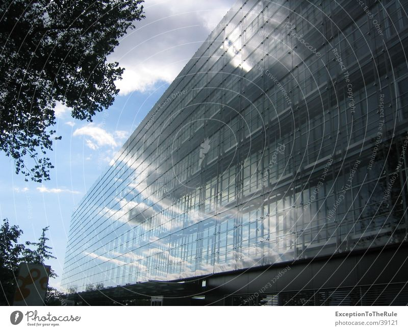 Sky Clouds Building Architecture Weather Mirror Modern architecture