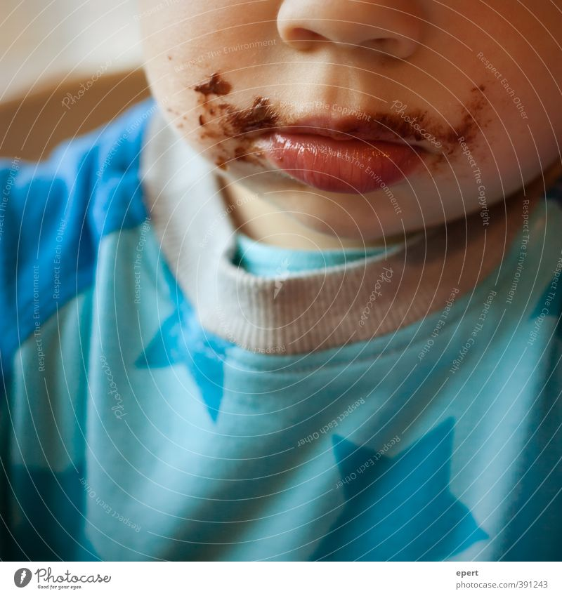 The first thing in the morning is chocolate in his mouth. Candy Chocolate Eating Breakfast Child Toddler Nose Mouth Happiness Cute Happy Contentment To enjoy